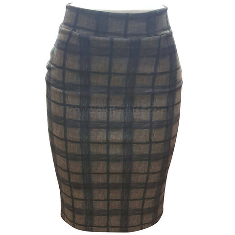 Women's Fit Skirt Black Checked