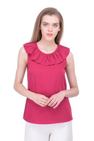 Short Sleeved Pink Top