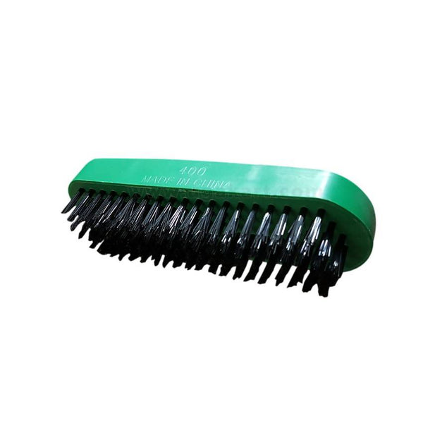 Green And Black Shoe Brush 4.5Inches
