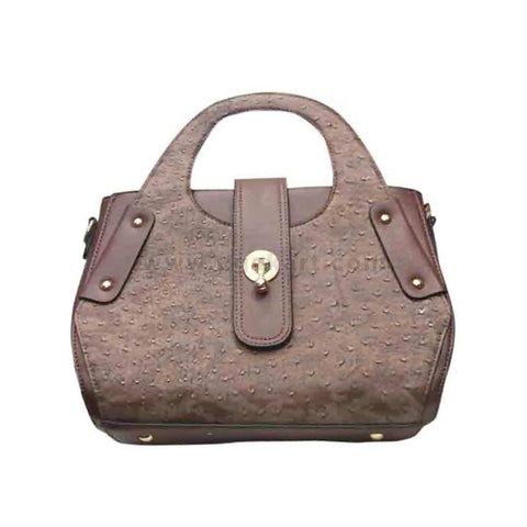 Womens Handbag Brown & Golden