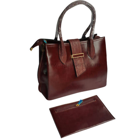 Coffee Brown Hand Bag Set of 2
