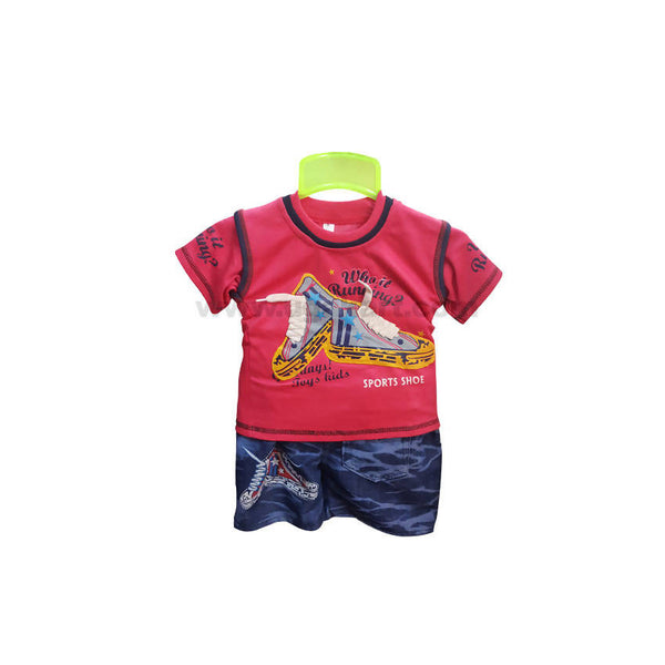 T-Shirt And Shorts For Boy_6 m to 1 yr