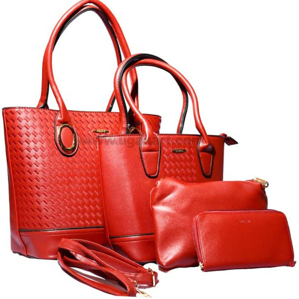 4Pcs Hand Bag Scarlet