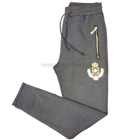 Battleship Grey Track Pant For Men's