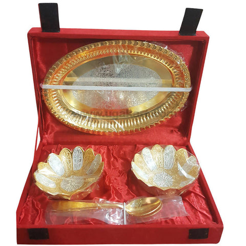 Gift Box With 1Pcs Tray, 2Pcs bowl, 2Pcs Spoon
