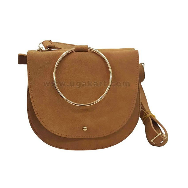 Brown Leather Womens Cross Bag