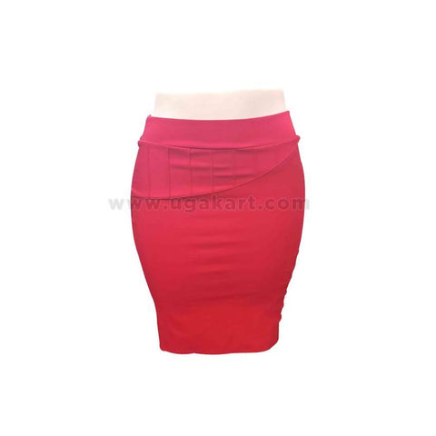 Red Short Ladies Skirt