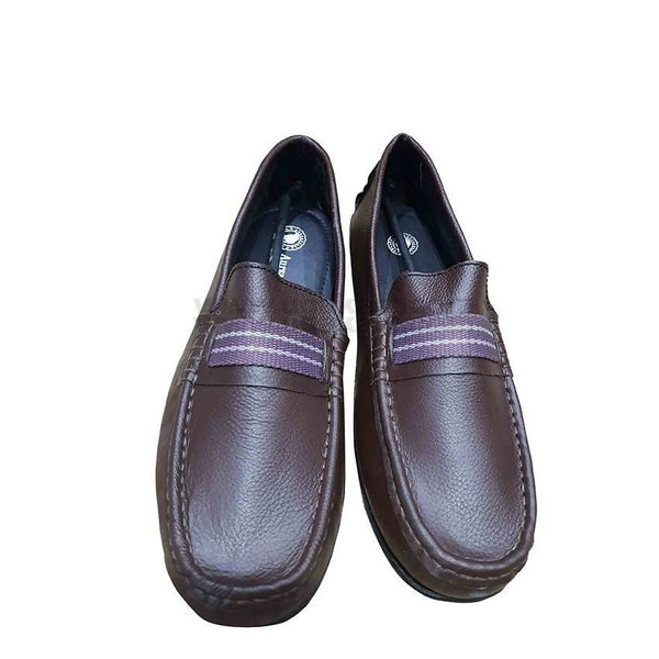 Mens Leather Moccassins - Coffee Brown