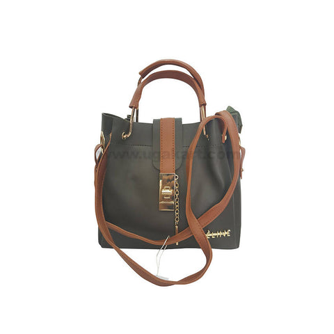 CE Line Black and Brown HandBag For Women's