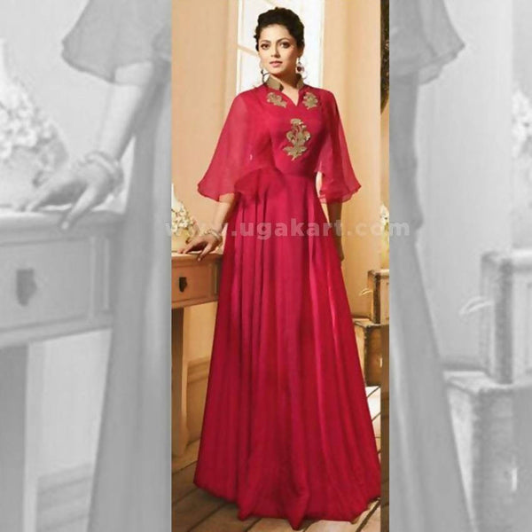 Long Kurti In Red Color - Size XXL