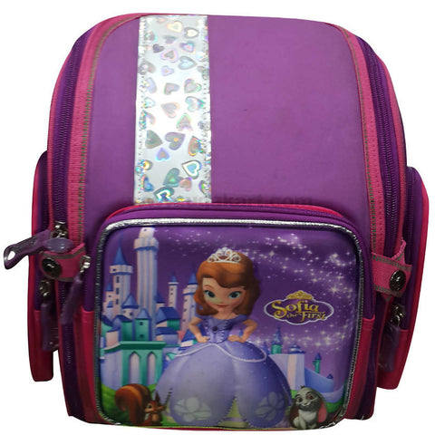 Purple Sofia the First Kid's School Bag