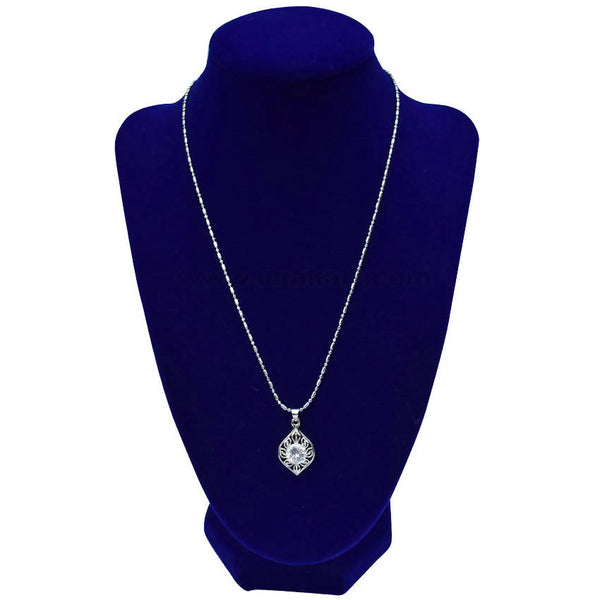 Silver Diamond Shaped Necklaces