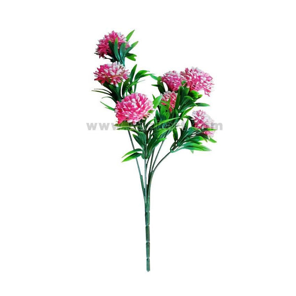 Plastic Decorative Pink & Green Flower