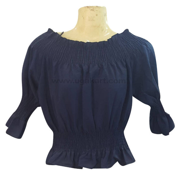 Women's Black Ruffle Top