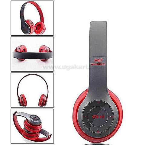 P47 Bluetooth 4.2 Headphone Wireless Earphone Hands Free Music Headset