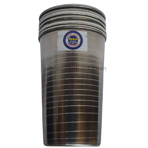 Stainless Steel Tumbler Set (Glass)- 6pcs