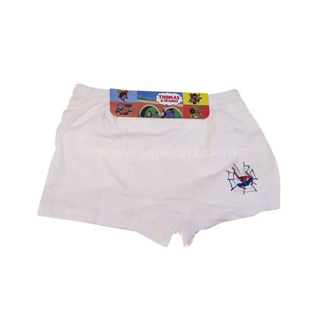 White Underware/Panties For Boys_2Pc_6Yrs To 10Yrs