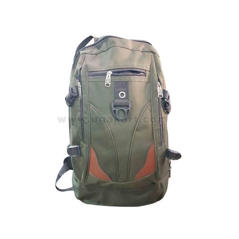 Tavel Bag Green & Brown Strips (Backpack)