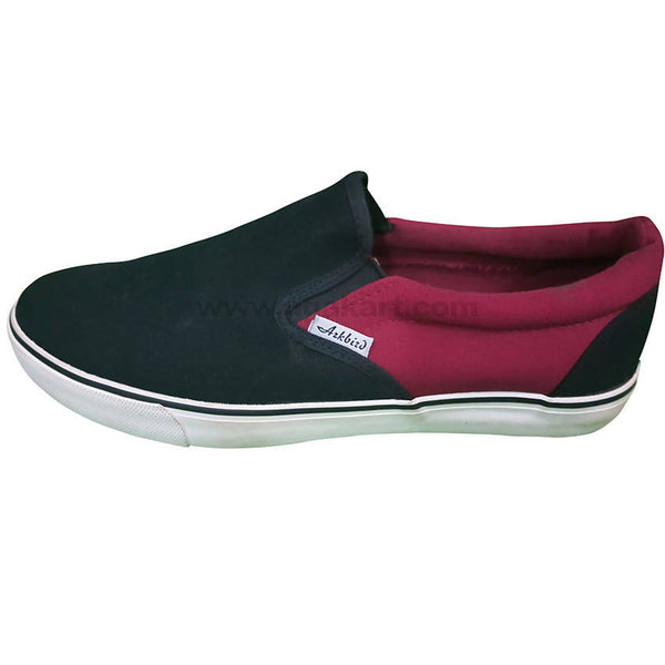 Black and Maroon Men's Shoes
