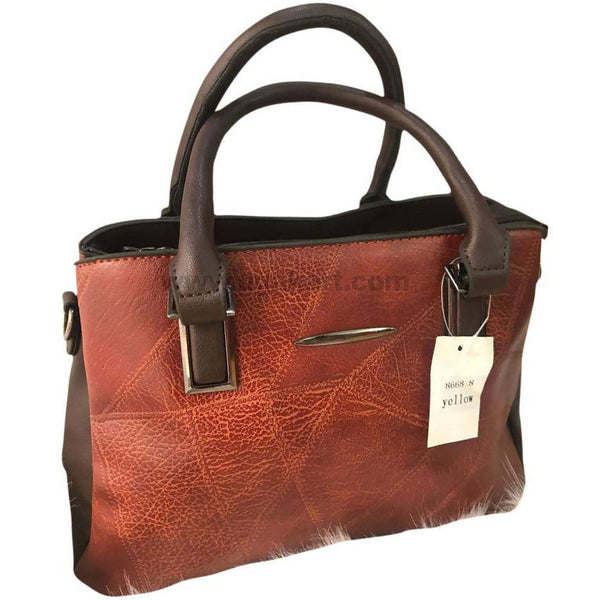 Brown and Brown Hand Bag