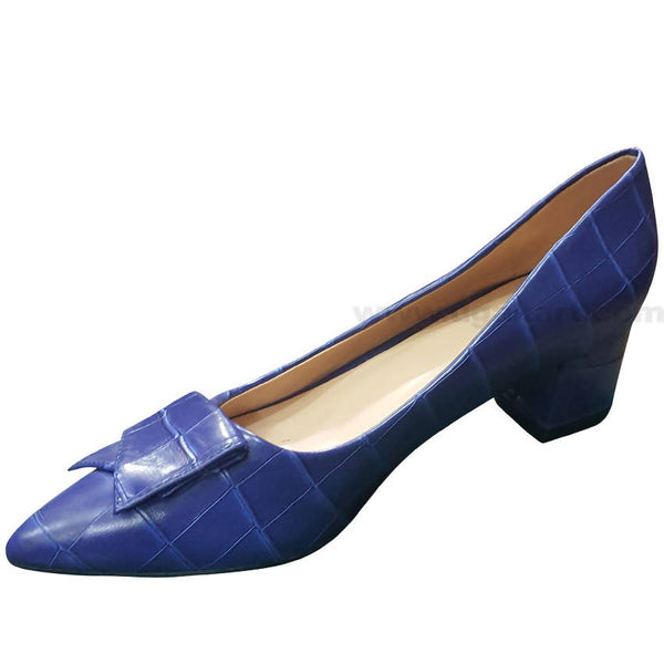 Blue Designed High Heels Shoe For Women