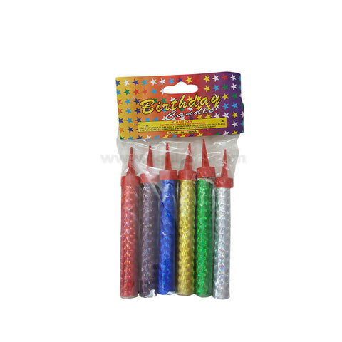 6 Pcs Birthday Sparkling Candle-10cm