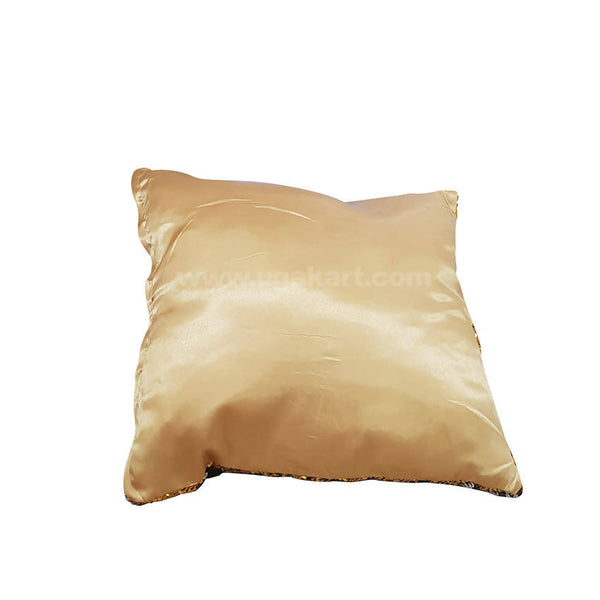 Sequins Cushion Golden And Sliver