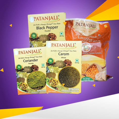 Patanjali Wheat Flour And Spices Value Pack