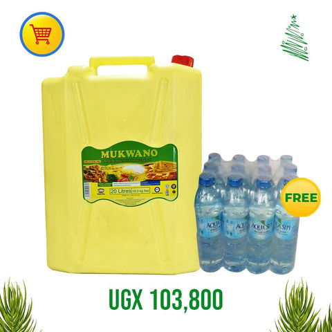 BUY ONE BOTTLE OF MUKWANO OIL 20 LTR & GET SHRINK WRAP FREE