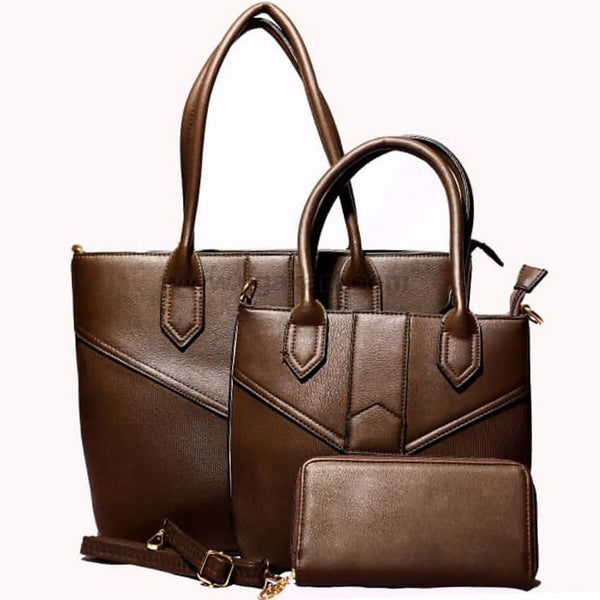 Brown Hand Bag 3PCS