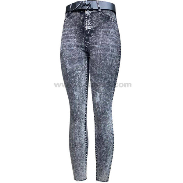 White & Black Shaded High Waisted Women's Jeans