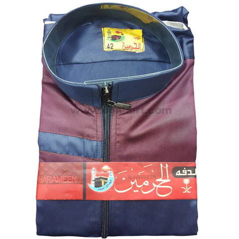 Al-Harameen Blue and Maroon Daffah Thobes For Kids