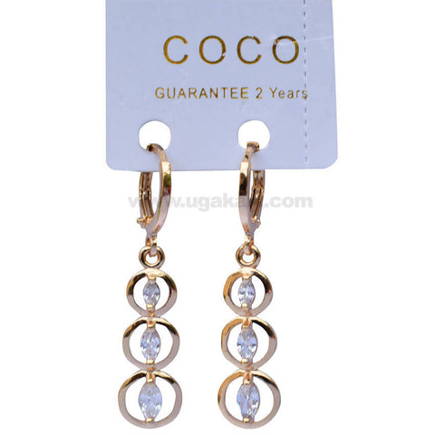 Classy Coco Violet Circular Earrings