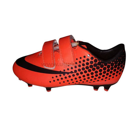 Red and Black soccer cleat Shoe