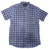 Deepsky Blue Check Half Sleeve Shirt For Men