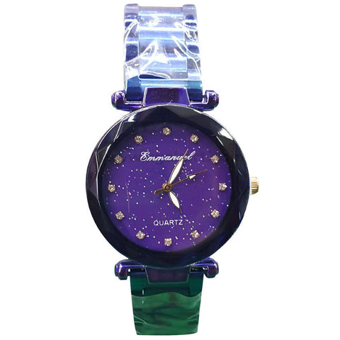 Purple Quartz Stainless Steel Strap Women's Watch
