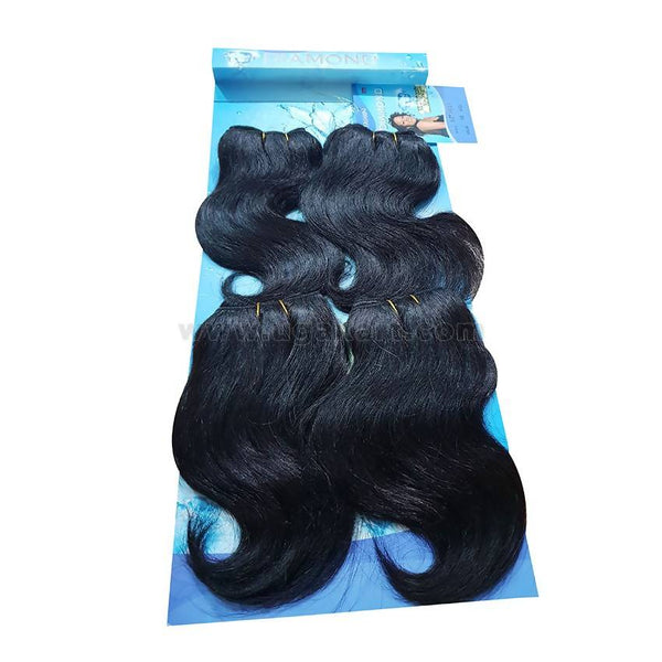 Human Hair-Black -4 Pc With 8 Inch