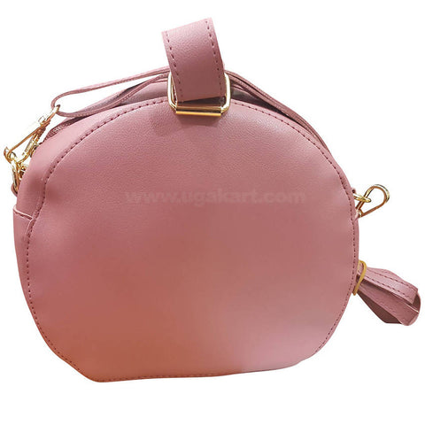 Pink Round Ladies Cross Bag
