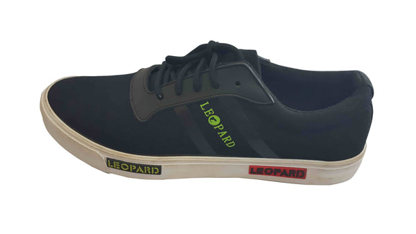 Leopard Mens Casual Sneakers - Navy Blue