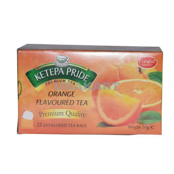 Ketepa Pride Orange Flavoured Tea(25 Enveloped Tea Bags) 50Gm