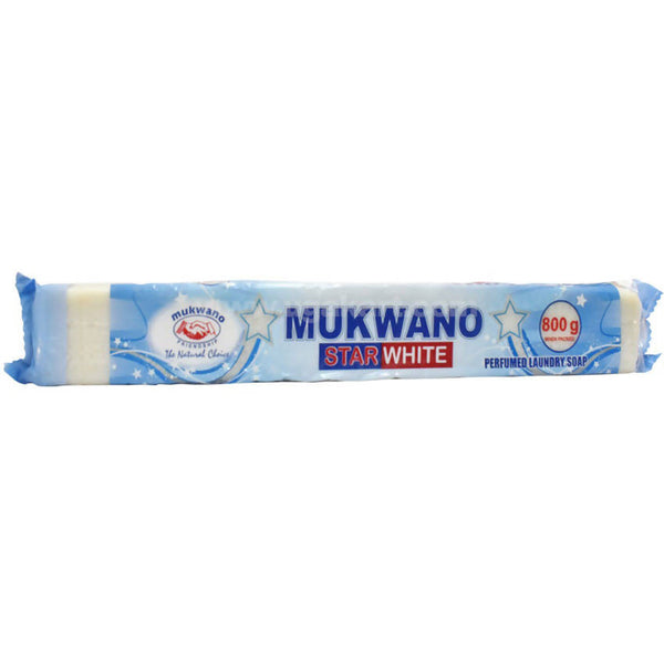 Mukwano Star White Laundry Bar Soap 800g
