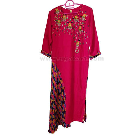 Women's Maroon Long Sleeve Dress - Size L