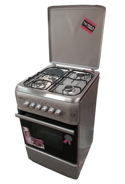 S5031GR-I 3 Gas Burner Cooker + 1 Electric Plate + Gas Oven + Rotisserrie