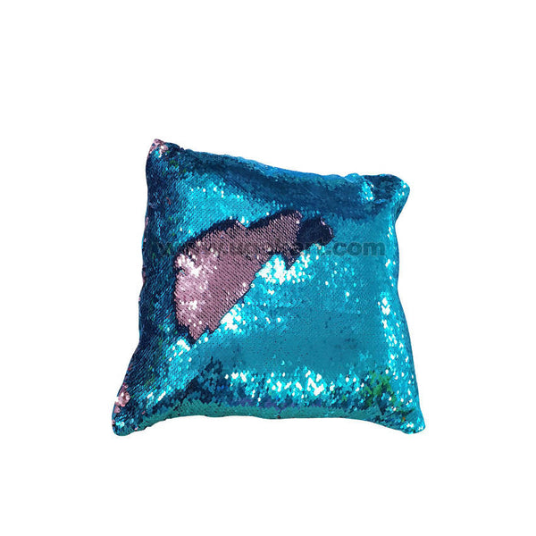 Sequins Cushion Blue And Pink Gliter Star
