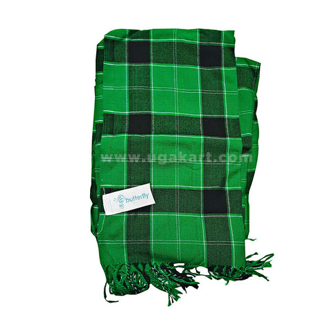green and black checked showel