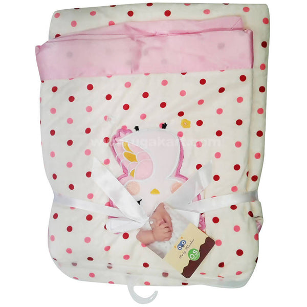iBaby White With Pink Design Blanket