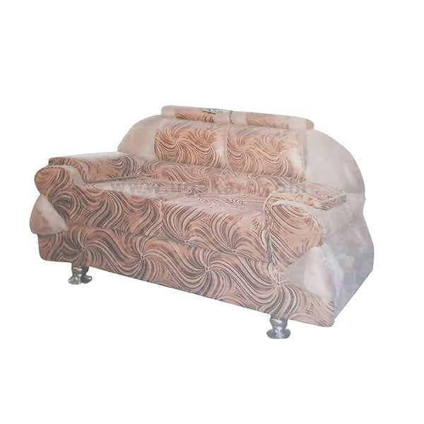 Mixed Brown And Cream Wooden High Density With Fiber Cushions Sofa-Size (2-2-1)