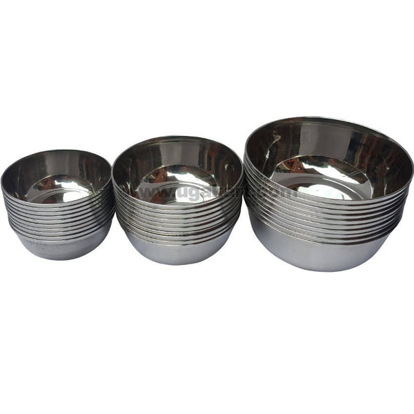 Stainless Steel Bowl Set (Size no 5) - 10pc