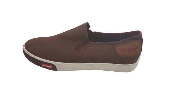 Suede Slip On Plimsolls Convince Sneakers - Brown
