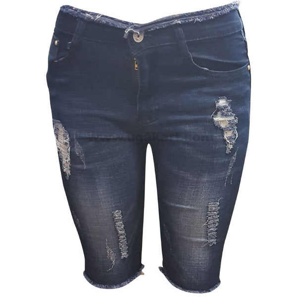 Disaster Blue Capris Jean